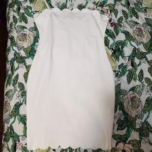White scalloped dress